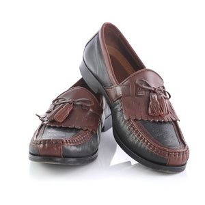Johnston Murphy Black Brown Kiltie Tassel Loafers
